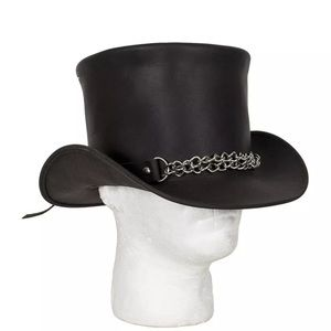 Other - Genuine Leather Steampunk Deadman Top Hat